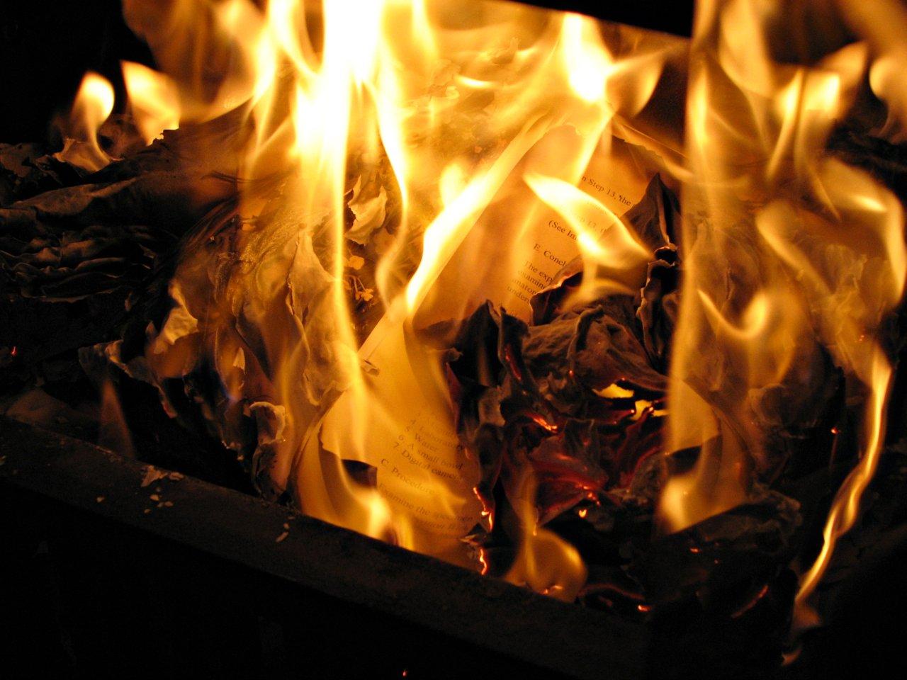 Burning the Evidence